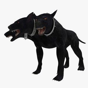three-headed dog cerberus 3d max