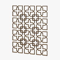 decorative panel 3d max