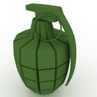 hand grenade 3d model