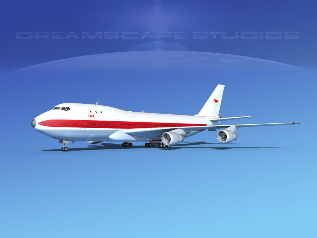 3d model 747-100 airline boeing 747