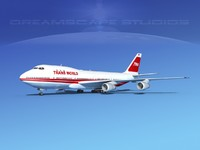 747-100 airline boeing 747 3d model