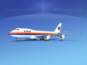 3d 747-100 airline boeing 747 model