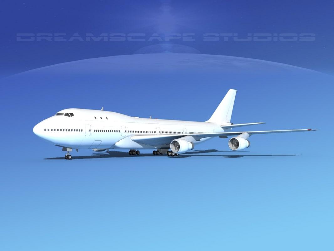 3d 747-100 boeing 747 model