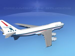 747-100 airline boeing 747 3d obj
