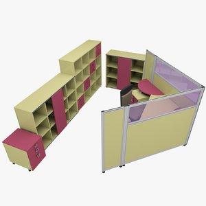 rack office table 3d model