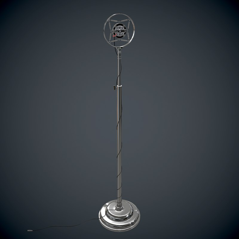3d antique microphone model