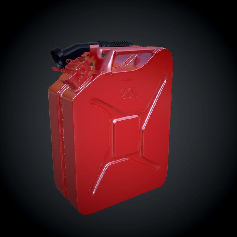 3d jerrycan fuel model
