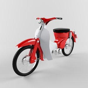 3d model moped motorbike