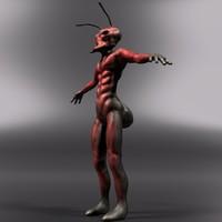 soldier ant 3d obj