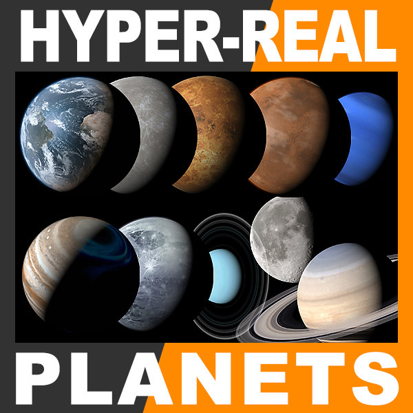 max hyper-real earth moon planets