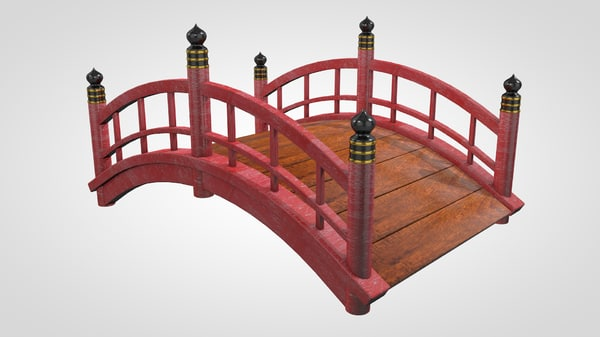 japanese garden bridge c4d