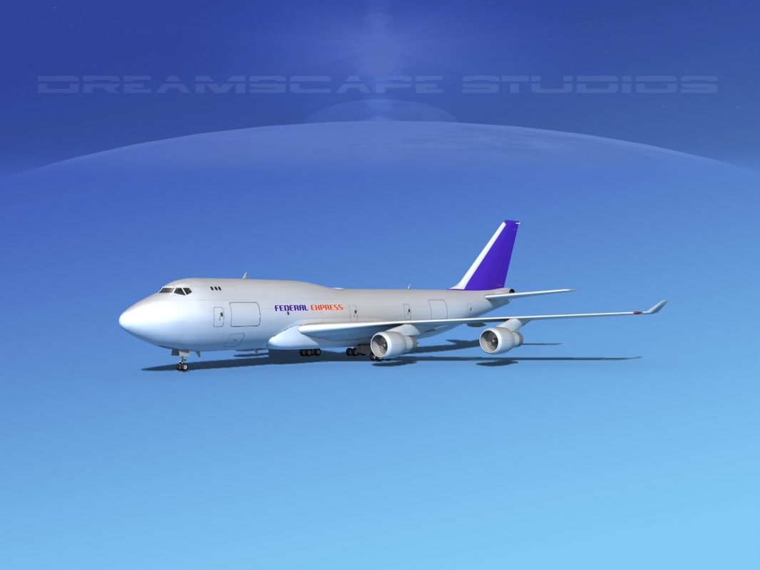 obj airline boeing 747-400 747 aircraft