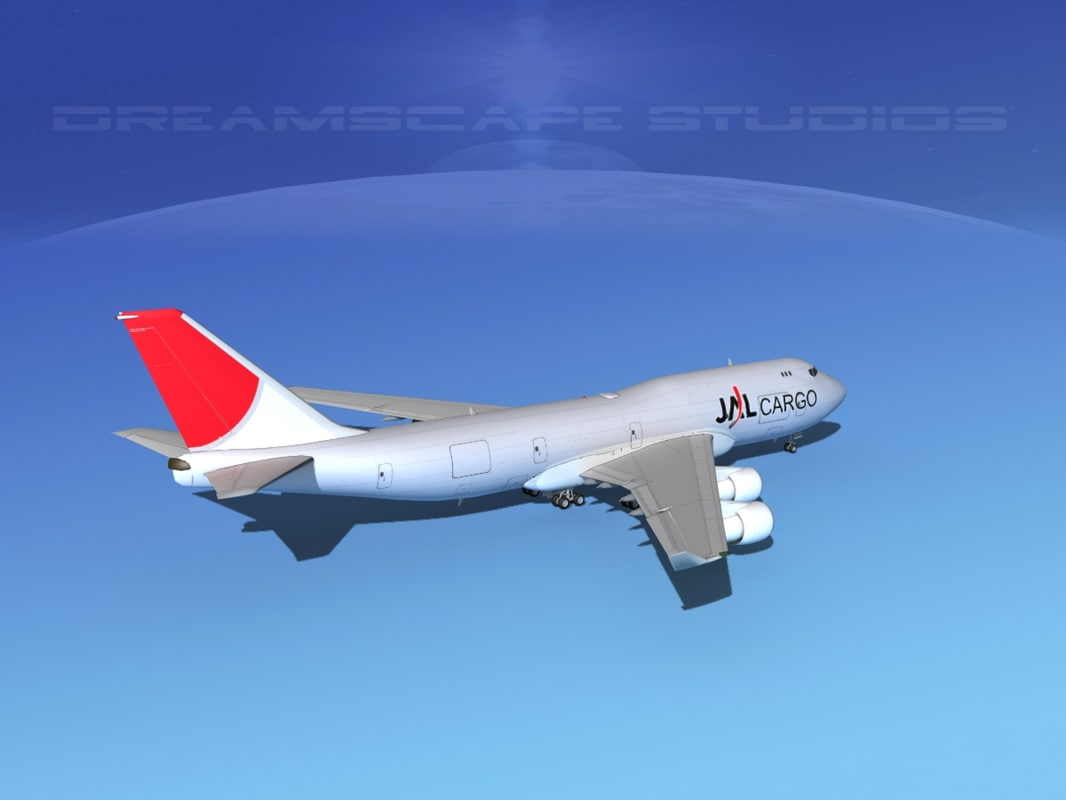 airline boeing 747-400 747 aircraft 3d model