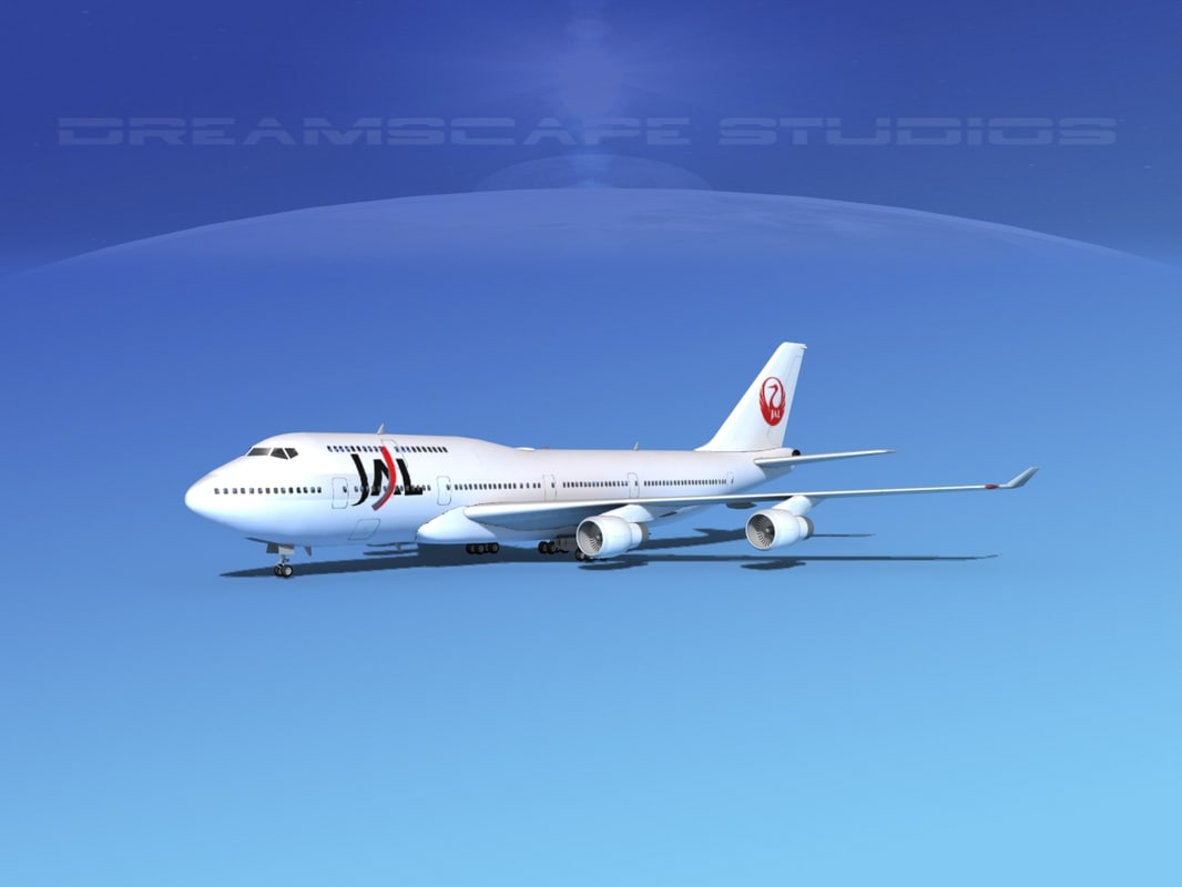 airline boeing 747-400 747 aircraft 3ds