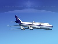 3ds airline boeing 747-400 747 aircraft