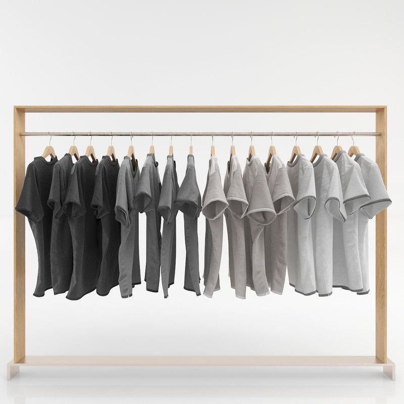 3d model clothes wardrobes