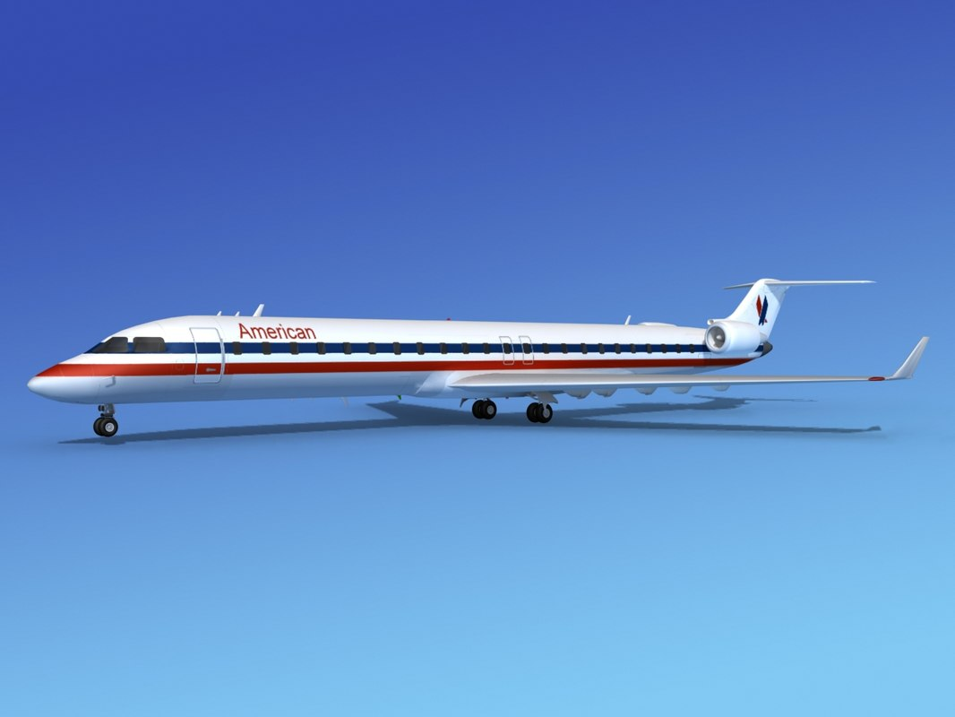 crj900 airlines bombardier 3d max