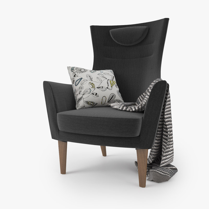 3d model ikea stockholm chair seat