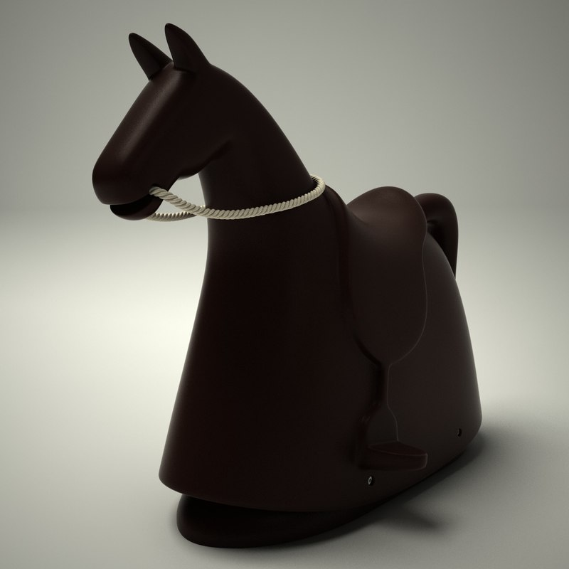 rocky - rocking horse 3d dxf