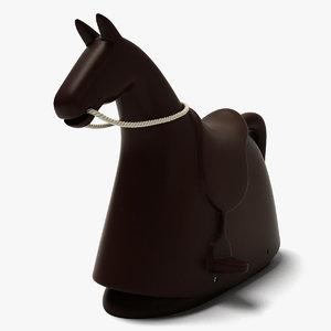 rocky - rocking horse 3d dxf