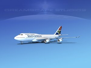 3d obj airline boeing 747-400 747 aircraft