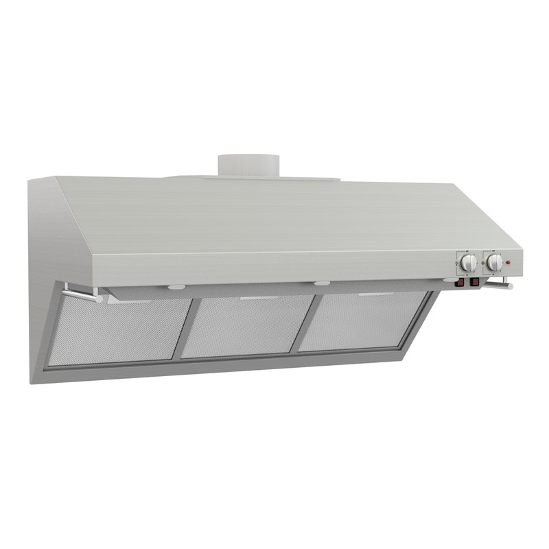 3d model stainless steel professional hood