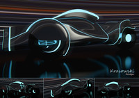 3d concept car tron