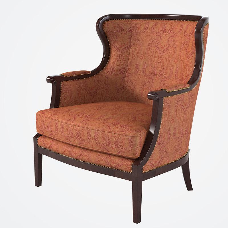 baker 476 chair 3d x