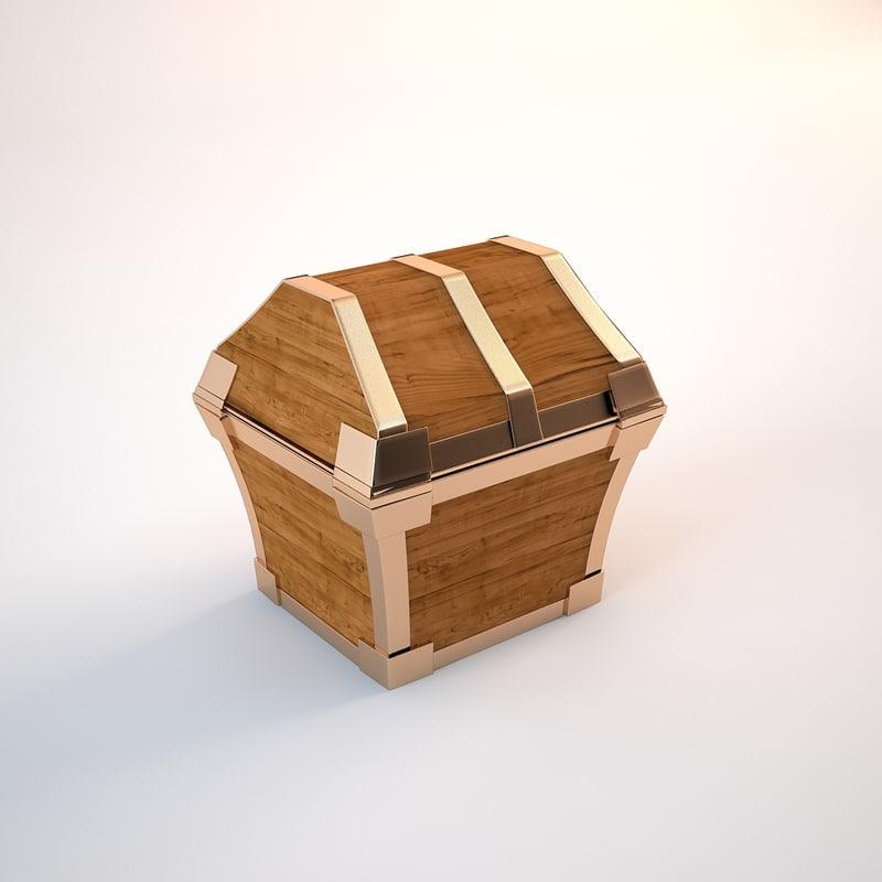 3dsmax pirate chest