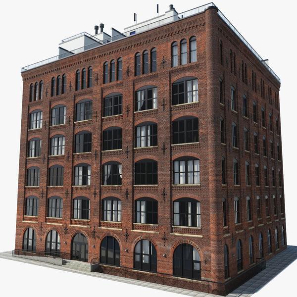 new york brooklyn downtown 3d max