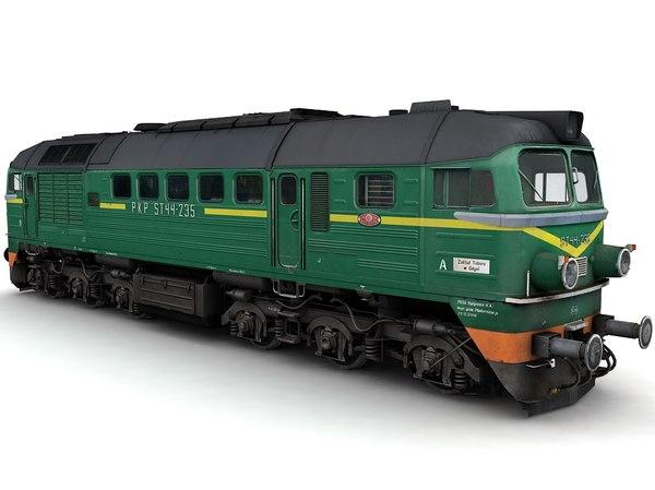 diesel locomotive st44 3d model