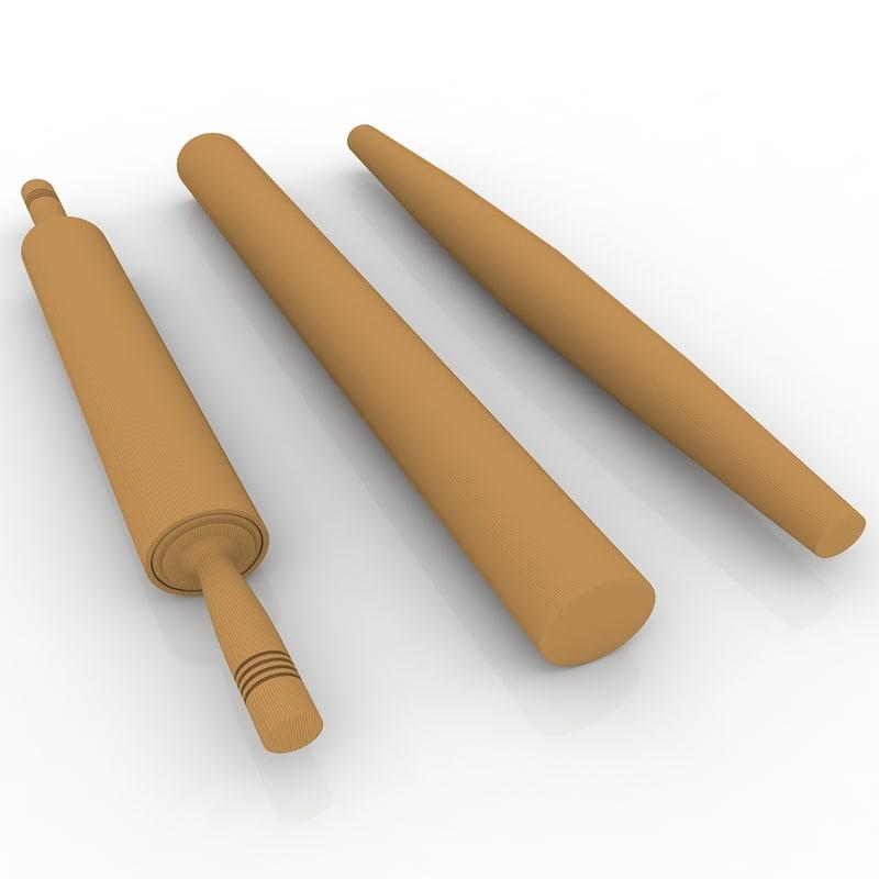 3d rolling pins model