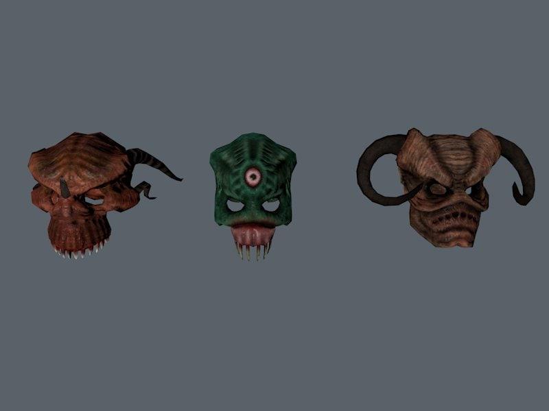 obj demonic helmets