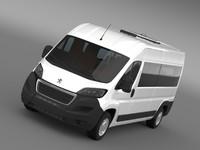 3d model peugeot boxer minibus 2014
