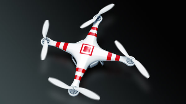 quadcopter phantom 2 3d max