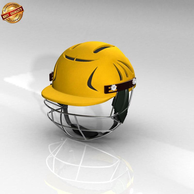 cricket helmet 3d ma