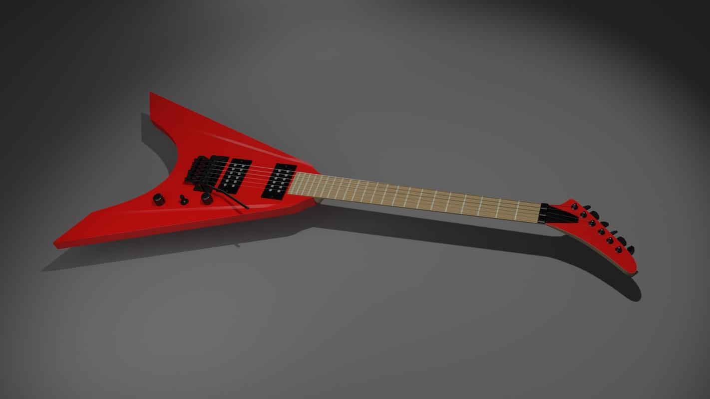 electric guitar 3d blend