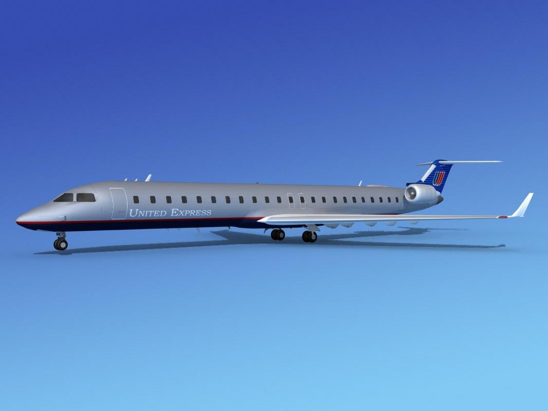 crj900 airlines bombardier 3d obj