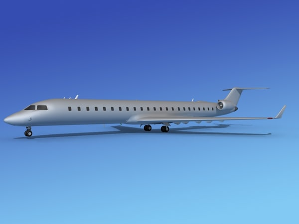 3d model crj900 based bombardier
