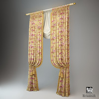curtains classic set 3d max