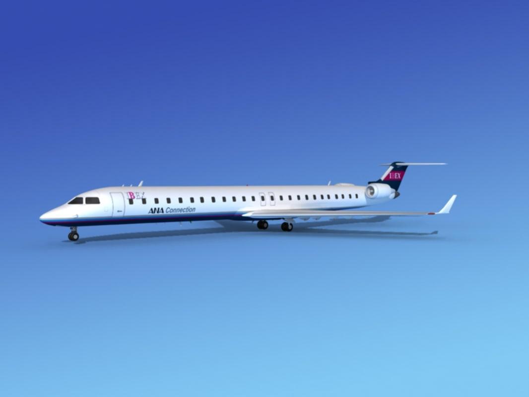 crj1000 bombardier airlines 3d model