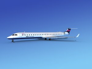 crj1000 bombardier airlines 3d model