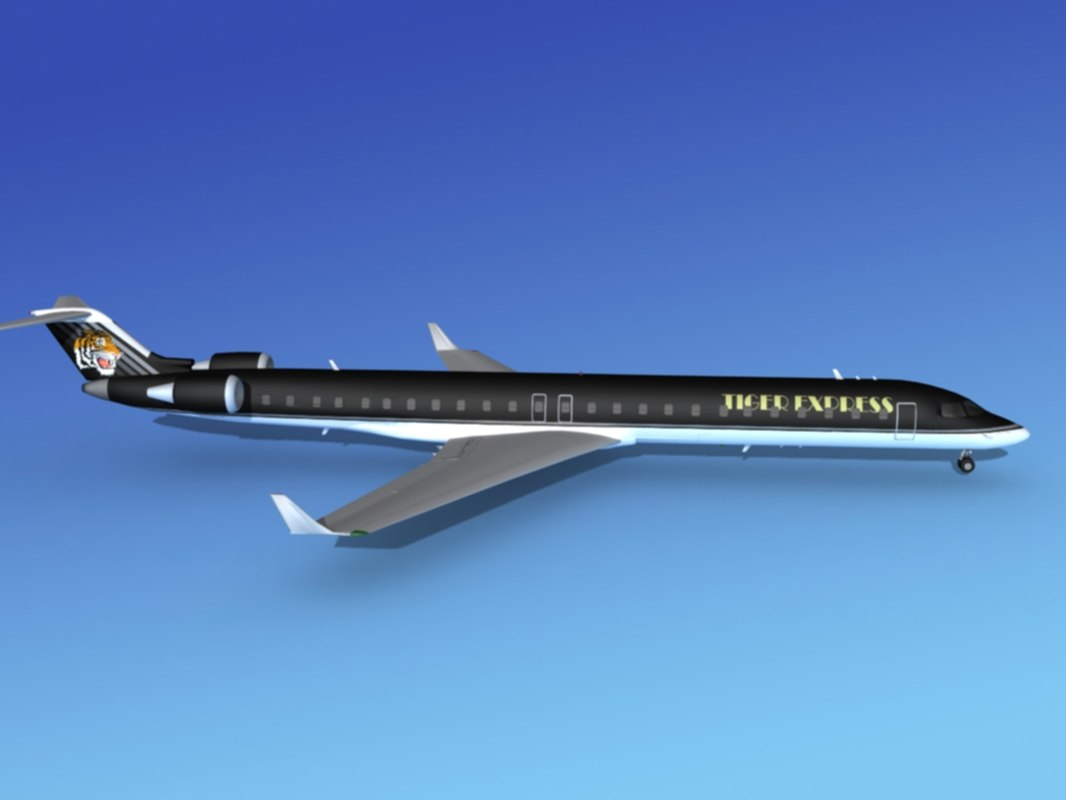 3d model crj1000 bombardier