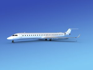 3d model of crj1000 bombardier