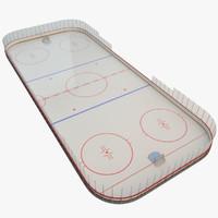3d hockey rink model