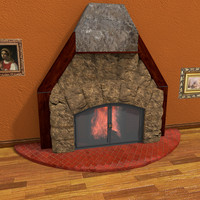 fireplace room particle 3ds
