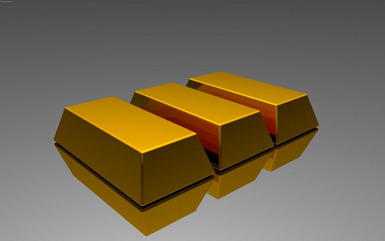 free 3ds model gold bullion