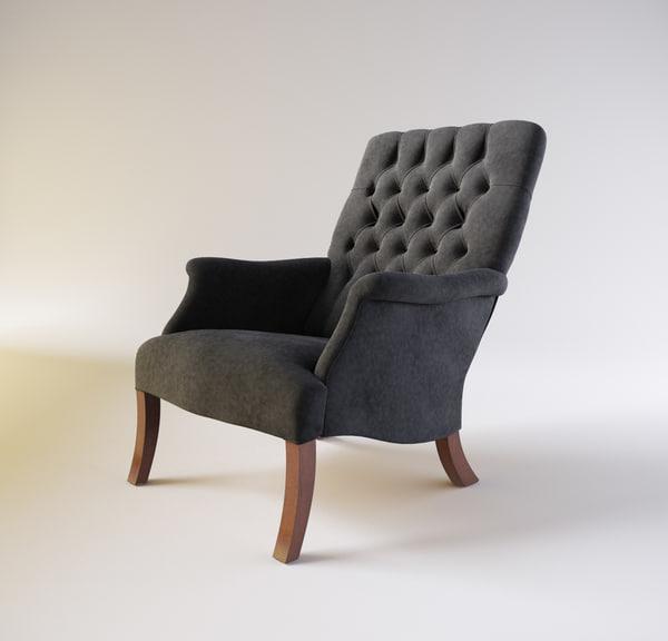 william spooner armchair 3d max
