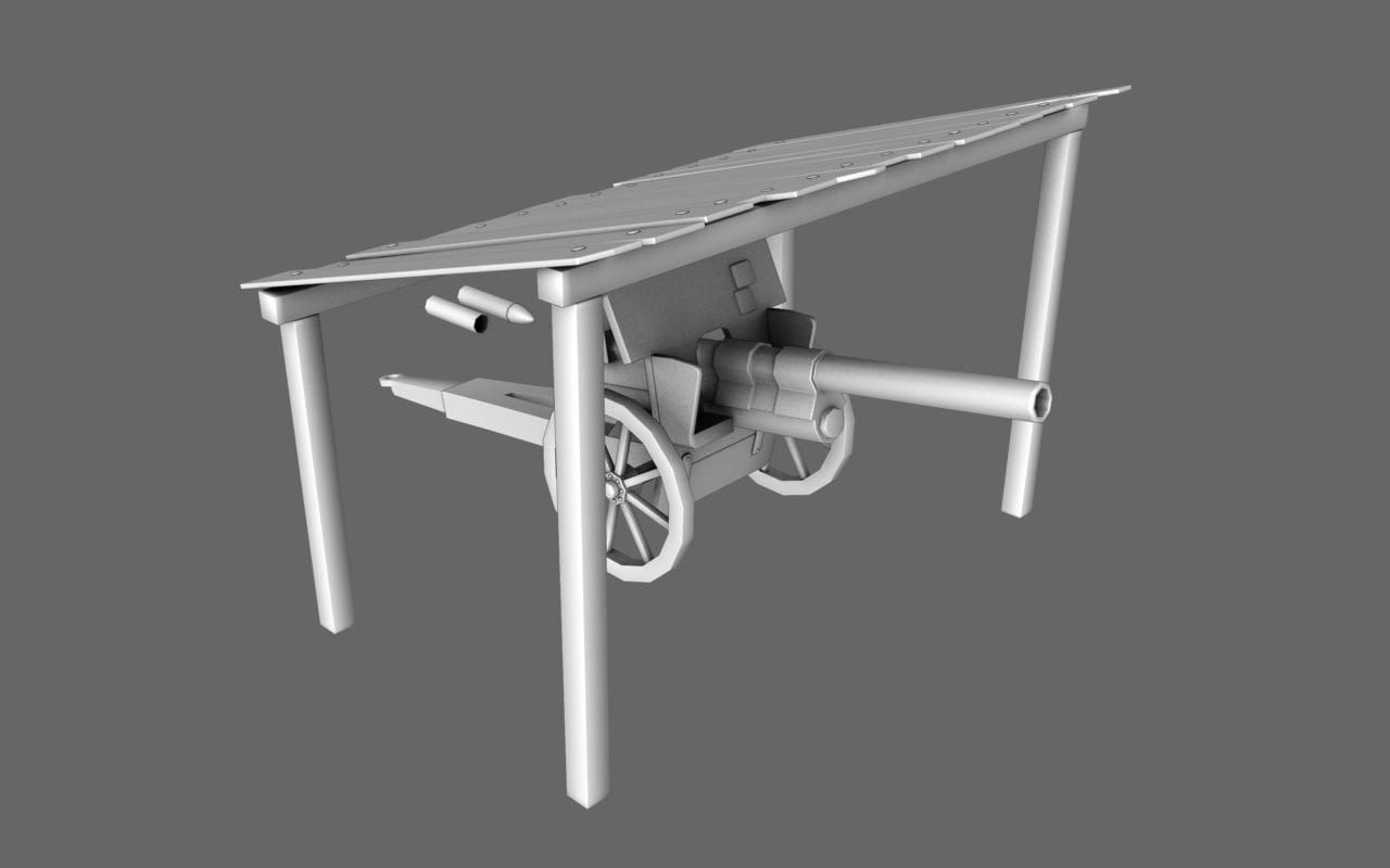 obj artillery cannon canopy