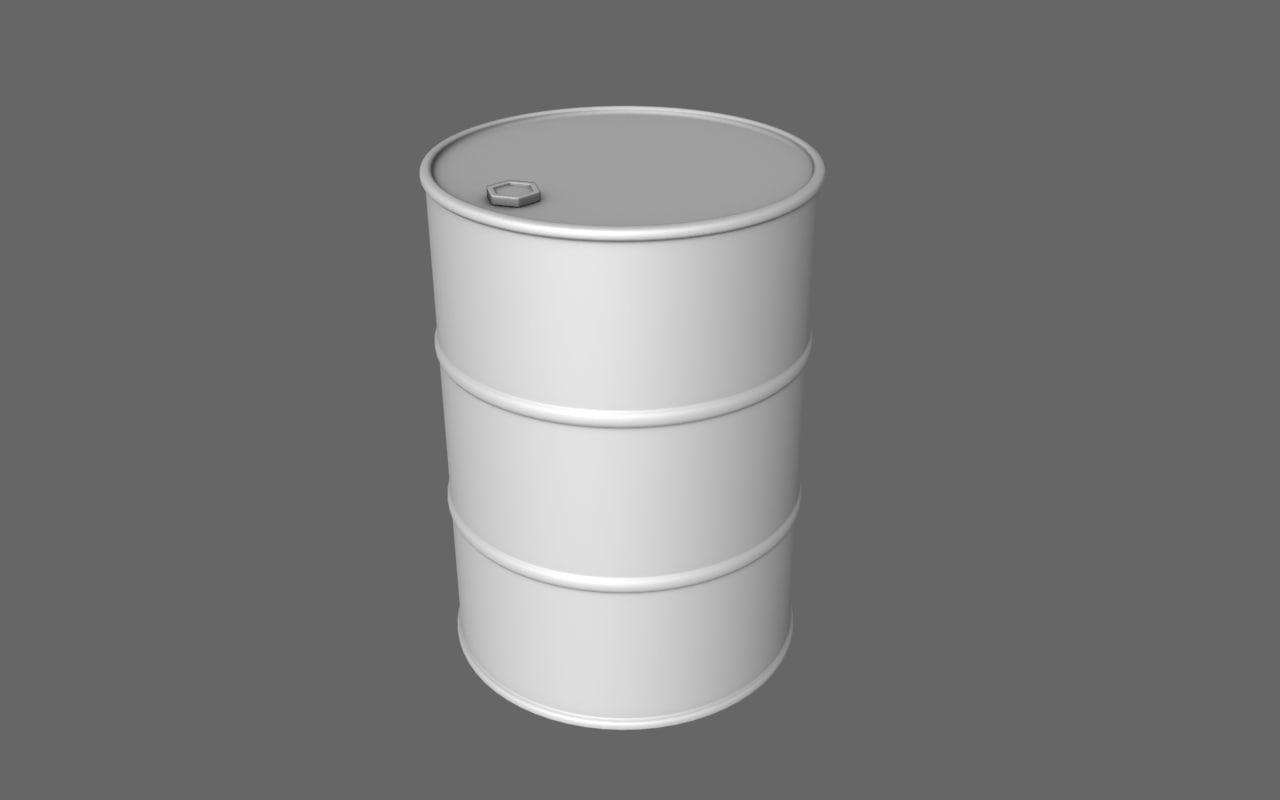 oil barrel obj free